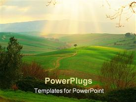 PowerPoint template displaying campagna Toscana, Italy