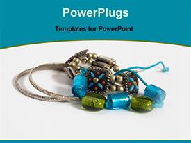 PowerPoint template displaying variety of jewelry