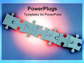 Jigsaw puzzle link powerpoint design layout