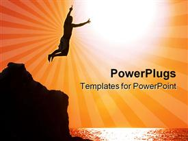 Jumping off the cliff powerpoint theme