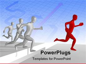 PowerPoint template displaying a number of bullet points with bluish background