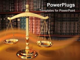 PowerPoint template displaying justice Strength