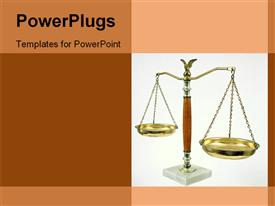 PowerPoint template displaying judgment scale