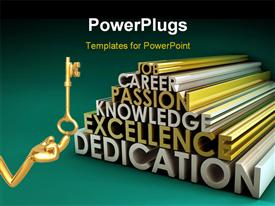 Business Skills for a Job Career in 3D template for powerpoint