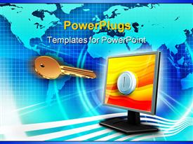 PowerPoint template displaying key to access digital information