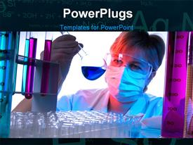 Science technician at work in the laboratory powerpoint template