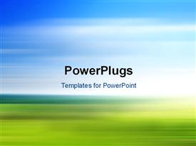 PowerPoint template displaying colorful and fast blurred background, a motion landscape