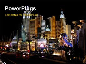 Hotel at Las Vegas template for powerpoint