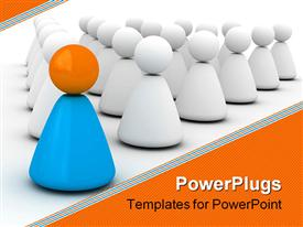 Image expressing leadership (society for leader 3D for printing or web) template for powerpoint