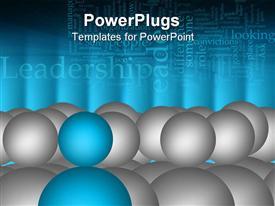 Leader illustration blue person on grey people background presentation background
