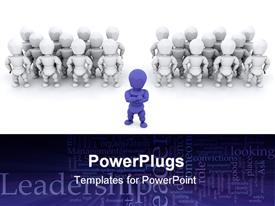One person leading teams of people template for powerpoint