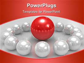 Three dimensional spheres conceptual command Teamwork powerpoint design layout