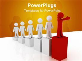 Leader concept powerpoint design layout