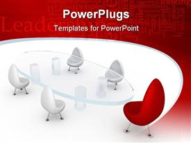 PowerPoint template displaying meeting concept computer generated depiction for special design in the background.