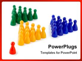 Leader team of success company template for powerpoint