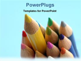 Bunch of colored pencil powerpoint theme