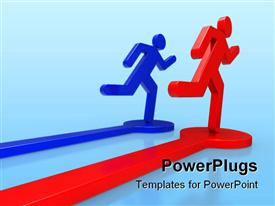 A Business concepts leadership 3D powerpoint theme