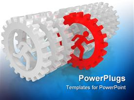 Business concepts. the leadership 3D template for powerpoint