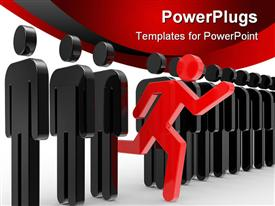 A Business concepts leadership 3D powerpoint design layout