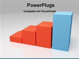 Colored bar chart showing leadership powerpoint theme