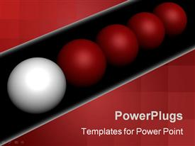 Leadership. 3D generated image isolated on black powerpoint theme