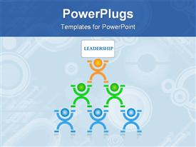 PowerPoint template displaying that is a leadership concept for a lot of things in the life in the background.
