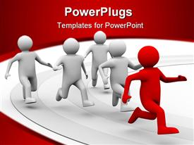 Leadership concept on white background. Isolated 3D image powerpoint design layout