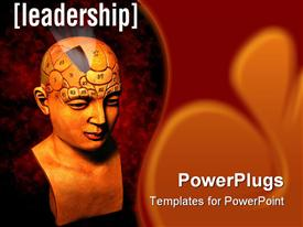 Psychology model highlighting the leadership section of the brain template for powerpoint