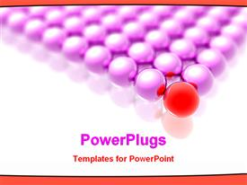 Red ball leading other purples powerpoint template