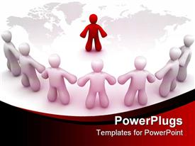 Rendered image for describing about leader, leadership template for powerpoint