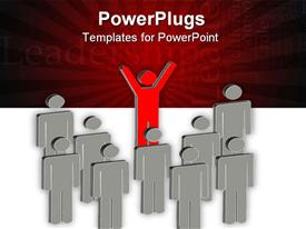 PowerPoint template displaying lots of characters with a text that spells out the word