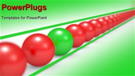 Leadership concept red and green balls 3D illustration powerpoint theme