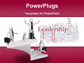 Leadership concept on white background. Isolated 3D image powerpoint theme