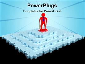 PowerPoint template displaying jigsaw puzzle concept