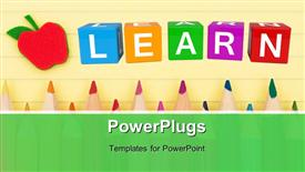 Learn cubes 3D powerpoint design layout