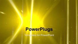 PowerPoint template displaying a yellowish background with a lot of movement - widescreen format