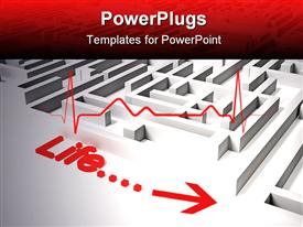 PowerPoint template displaying hQ depiction of life problems