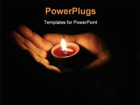 PowerPoint template displaying illuminate the darkness help spread the light of life in the background.