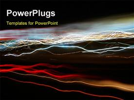 PowerPoint template displaying a number of electrical lines of various colors