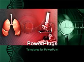 Human lungs and microscope powerpoint theme