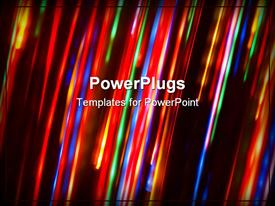 PowerPoint template displaying falling down burning stars background (abstract colorful background)