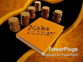 PowerPoint template displaying let's make money icon symbol 3D