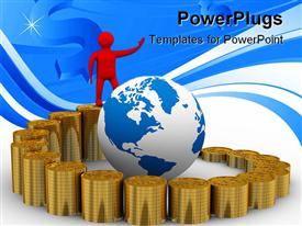 Diagram of growth. 3D image powerpoint template