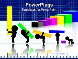 PowerPoint template displaying children making graph in black background