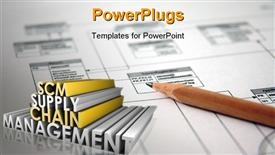 Supply Chain Management SCM Industry in 3D powerpoint theme