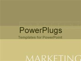 PowerPoint template displaying stylized olive green with marketing text watermark