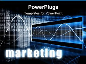 PowerPoint template displaying marketing as a Creative Concept Art Background