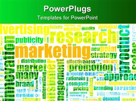 Marketing Terminology as a Abstract Background Text Cloud presentation background