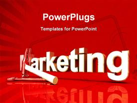 PowerPoint template displaying marketing Tools