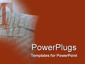 PowerPoint template displaying faded keyboard on Maroon background with Large text T